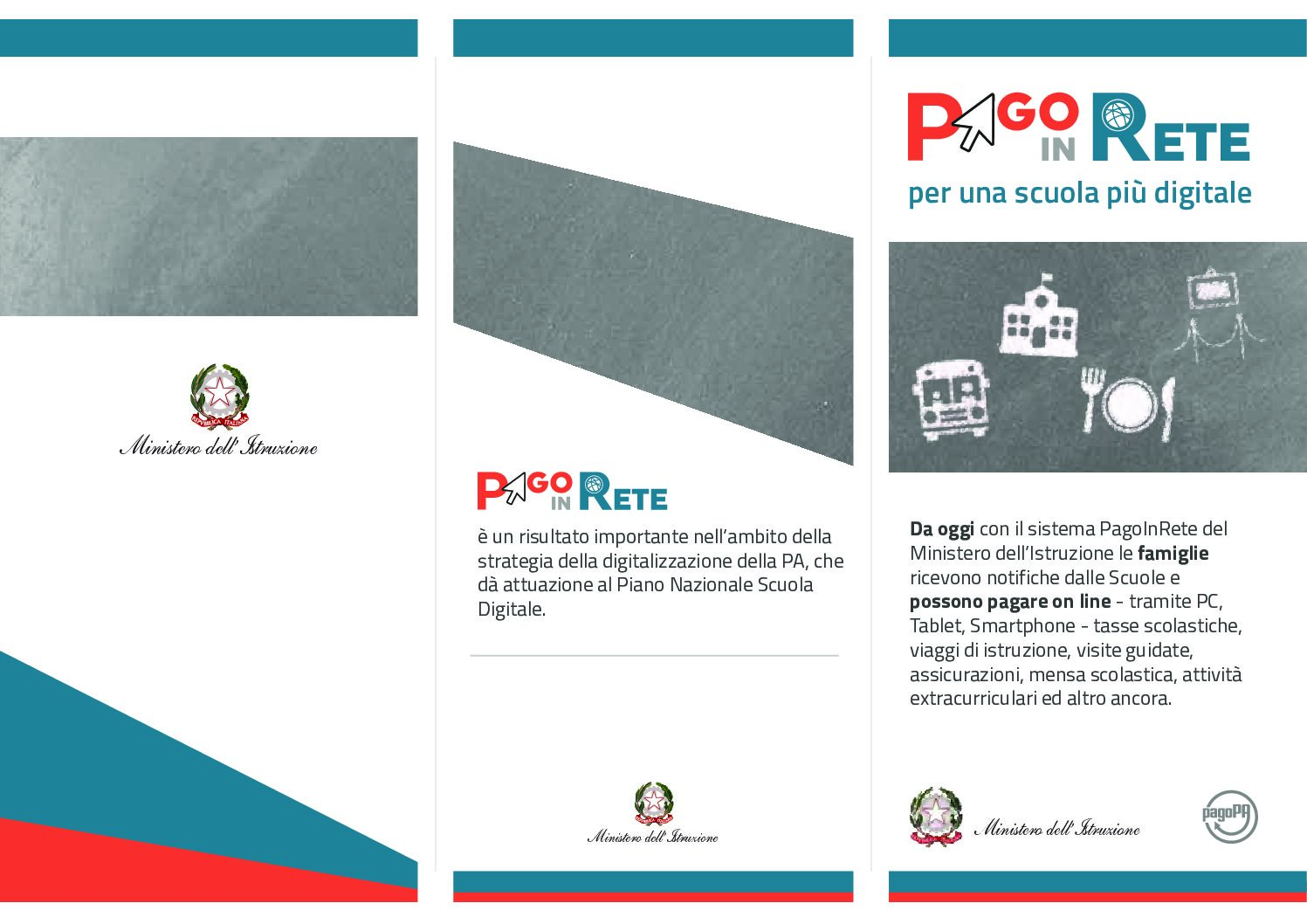 Attivazione del servizio MIUR Pago In Rete per i pagamenti telematici delle famiglie verso l'Istituto Scolastico.